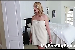 HORNY HOUSEWIFE FUCKS STEPSON In the long run b for a long time HUSBAND SLEEPS- MyFamilySex.com