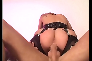 Hot blond slut takes it in the ass