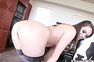 Enema babe squirting from her tits and ass