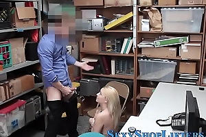 Real shoplifter pounded