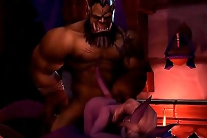 3D cartoon hentai - Orck with big dick is nailing small sexy dark elf milf - www.its3D.fun - animated 3D porn