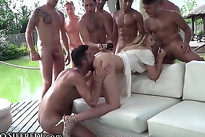 RoccoSiffredi Euro Teen, Champagne Unaffected by Ass &_ Football Gangbang