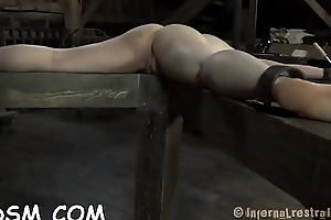 Angel gets her anal and bawdy cleft up to here electric toys