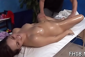 Hotty cleave to entry-way facialed wits her knead therapist