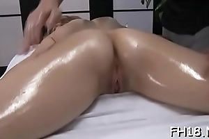 Sexy babe gets drilled hard and gives a massage!