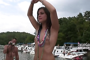 Party Girls Show Pussy To Crowd While Dancing