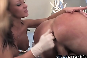 Busty skanks hand jizzed