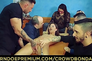 CROWD BONDAGE - Group spanking and domination for Anya Krey