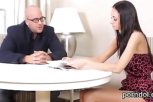 Innocent schoolgirl gets seduced and banged by older mentor