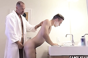 Gay step pa teaches son how back fuck
