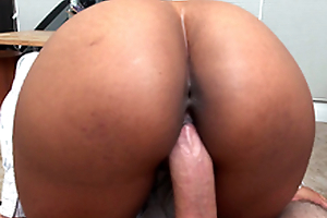 Secretary Arianna Knight rides will not hear of boss's cock in a pov view