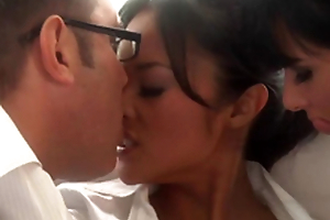 Beautiful Asian and Tory Lane Sharing Some Man rod