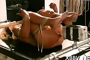 Lustful woman gets tits torture xxx encircling harsh bdsm video