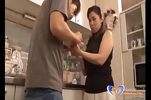 Making up with Japanese Milf