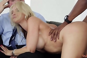 Doggystyle fucked milf cuckolds her husband