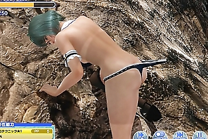 Dead or Alive-xtreme-venus-vacation rock climbing Tamaki Bug