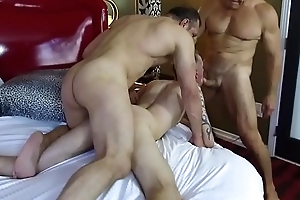 Robert Rexton gets fucked by muscle daddies Max Sargent and Chance Caldwell
